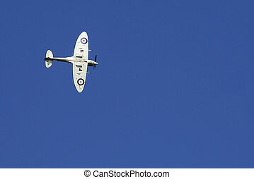 Spitfire against deep blu - The iconic fighter aircraft...