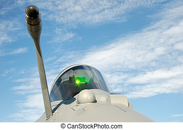 Fighter Cockpit Dome - A jet fighter cockpit dome and the...