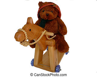 Cool Teddy Riding - Cool teddy riding his hobby horse to...