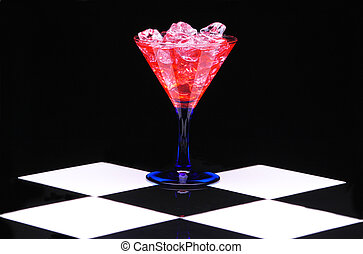 Red Martini with Ice