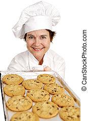 Chef Baking Cookies
