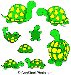 Turtle clip-art - Lots of turtles in different positions...