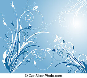 Floral background - illustration