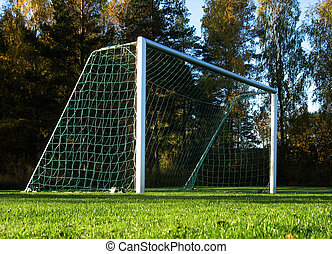 Soccer goal ready for great scoring