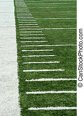 Football Yard Markers - White Football Yard Markers on astro...
