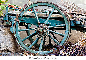 Wagons Wheel - The remnants of an old horse drawn wagon