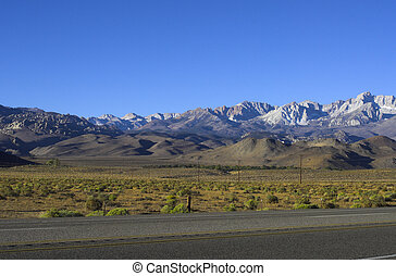 Sierra Nevada in Morning Light - Panorama of Californias...