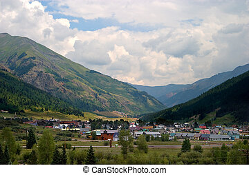 Mountain Town - View of Silverton, Colorado from Highway 550...