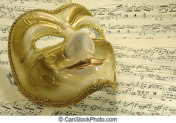 Opera - Photo of a Mask on Sheetmusic - Opera / Theater...