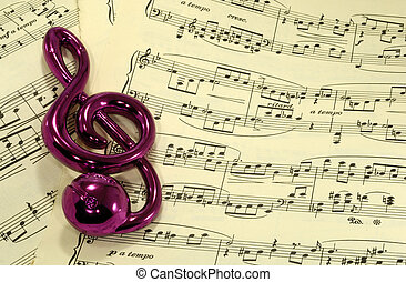 Sheetmusic - Photo of Sheetmusic and a Clef - Music...