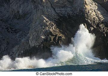 coast - waves in Cabo San Lucas, Baja California Sur, Mexico