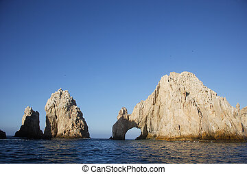 coast - Panoramic of The Arch of Cabo San Lucas, Baja...
