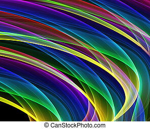 multicolored curves - variety of multicolored curves - hq...