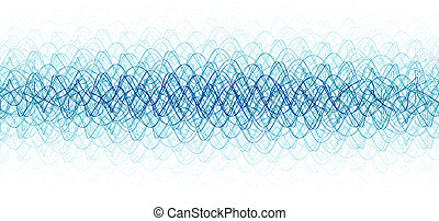 chaotic waveforms over white background hq render