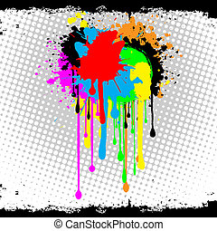 abstract grunge - Abstract grunge background of splats and...