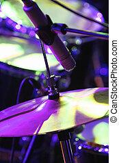 tambor, Conjunto, micrófono