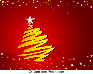 Christmas tree background - Abstract design of a Christmas...