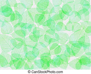 Green leaves background - A pastel background made with...
