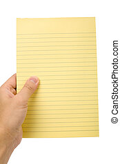 Yellow notepaper - Yellow note paper with white background