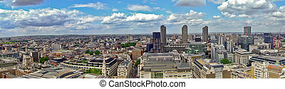 North east London - London panorama of business quart north...