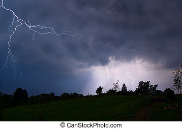 Night thunderstorm - Thunderstorm in Poland - 082007