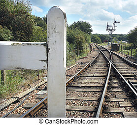 Detailed Railtrack - Half a gate stopping entry onto railway...