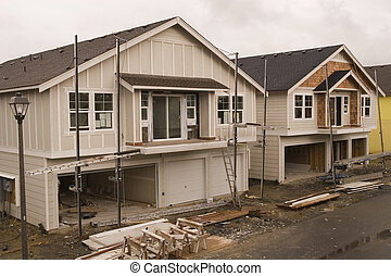 New Siding Construction - New home construction of frame...