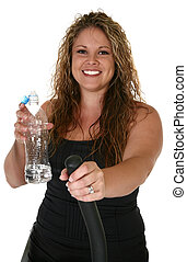 Beautiful Woman with Water