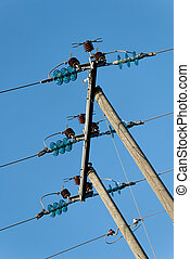 Three Tilted Power Lines - Three power lines, fixed...