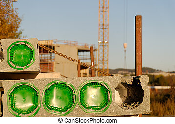 Construction Block - Conclreted block at a construction...