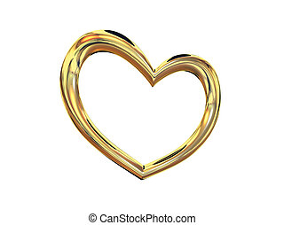 Heart gold costume jewellery sign on love and fidelity