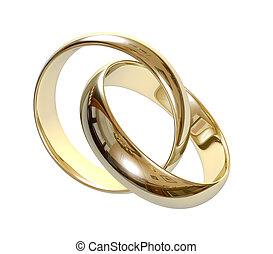 boda, anillos, 3D