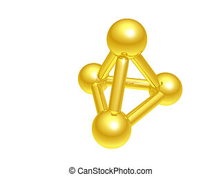 Molecule atom - The model of a molecule atom