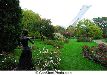 Botanical Garden - A view of the Montreal Olympic Stadium...