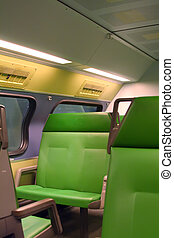 Passenger train - Interior of a passenger train dutch...