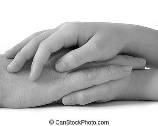 love - mother hand in daughter\\\'s ones