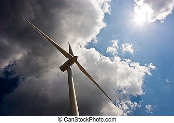 Wind Turbine. Alternative energy for a brighter future.