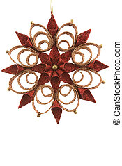 Snow Flake Ornament - Snow flake Christmas ornament