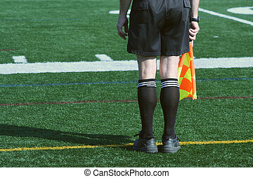 Soccer Official - A Soccer Official line judge