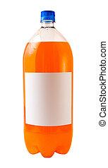 Orange Soda - A close up on a orange soda bottle isolated on...