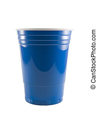 Blue Party Cup - a close up on a blue party cup