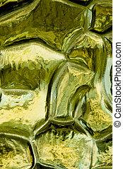 Green Pattern - Green pattern of a glass window