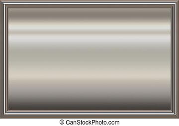metal award frame - shiny metal frame with sheet metal...