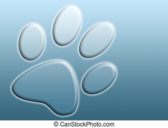 abstract paw print - abstract background image of a metallic...