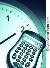 calculater on clock