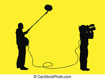 video professionals - isolated people with video equipment...