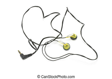 Ear Phones - Ear phones dropout on white background