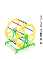 Pet Exercise Wheels - Pet exercise wheels drop out on white...