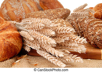 Varied bread display - Variety of nutritional breads,...