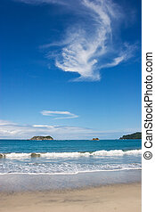 Manuel Antonio Beach - A view over Manuel Antonio Beach in...